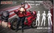 ARM12029 Biker girl