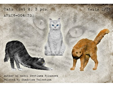 ARM16-004(3D) Cats (set 2)
