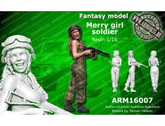 ARM16007 Merry girl soldier