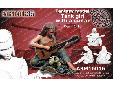 ARM16016 Tank Girl with a guitar