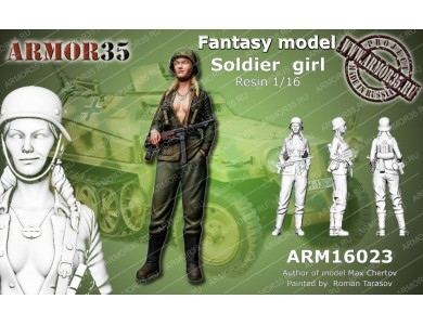 ARM16023 German soldier girl
