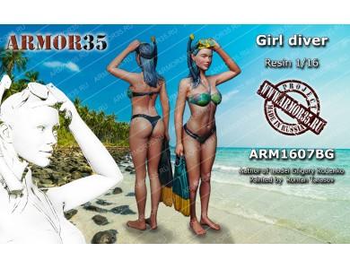 ARM1607BG Girl diver