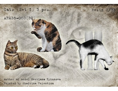 ARM35-003(3D) Cats (Set 1)
