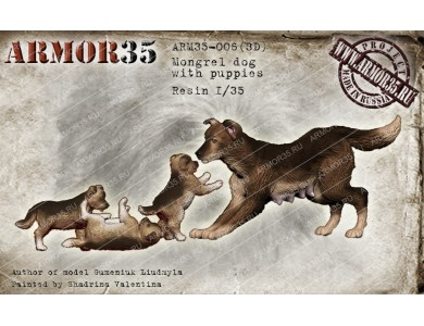 ARM35-006(3D) Mongrel dogs (Set 3)