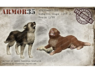 ARM35-007(3D) Mongrel dogs (Set 4)