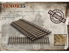 ARM35003К Railway track (1435/1520 mm, 12500 mm/railway sleeper wooden) - Set of details
