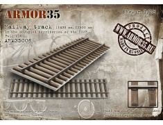 ARM35006 Railway track (1435 mm, 12500 mm) In the occupied territories of the USSR. Full Kit