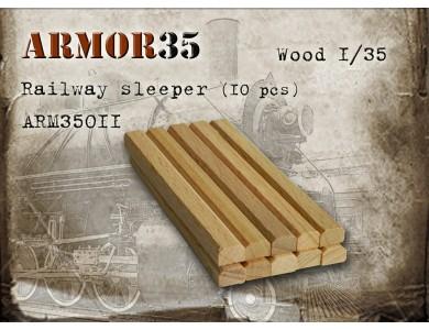 ARM35011 Railway sleeper wooden USSR (10 pcs)