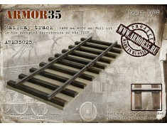 ARM35025 Railway track (1435 mm, 6000 mm) Full Kit
