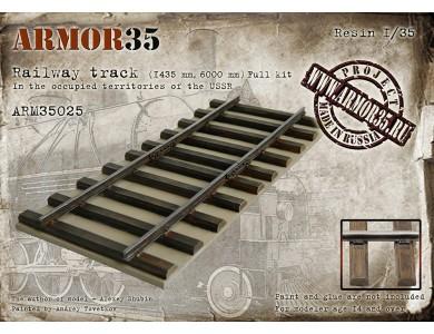 ARM35025 Railway track (1435 mm, 6000 mm) Full Kit