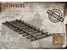 ARM35026К Railway track (1520/1435 mm, - 6000 mm/railway sleeper wooden) - Set of details