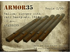 ARM35033 Railway sleeper with rail baseplate, 1524 mm. (10 pcs.)