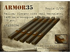 ARM35034 Railway sleeper with rail baseplate, 1435 mm.-occupied territory of USSR (10 pcs.)