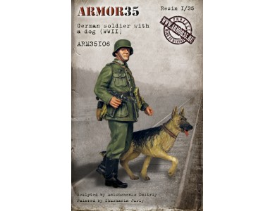 ARM35106 German soldier with a dog of WWII