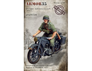 ARM35125 German motorcyclist I, WWII