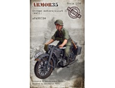 ARM35126 German motorcyclist I, WWII
