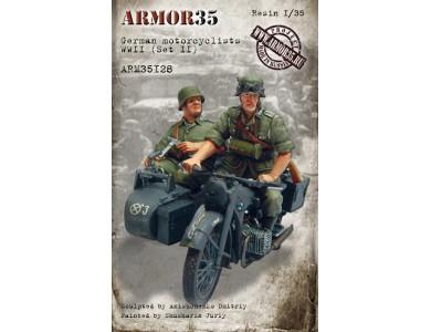 ARM35128 German motorcyclists WWII, (Set II)