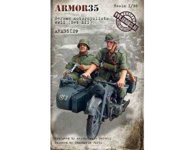 ARM35129 German motorcyclists WWII, (Set III)