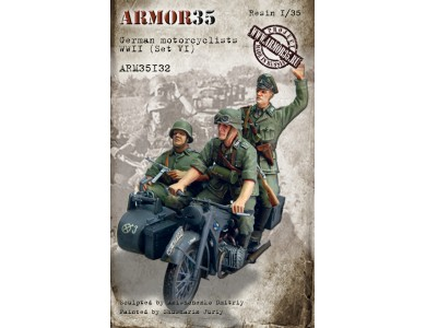 ARM35132 German motorcyclists WWII, (Set VI)
