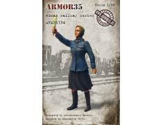 ARM35134 Woman railway worker