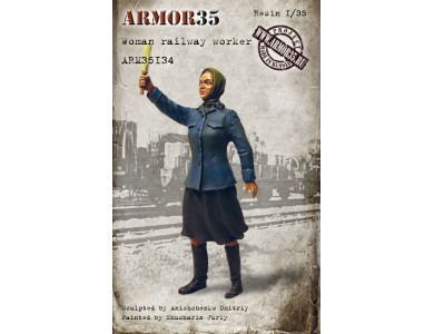 ARM35134 Woman railway worker