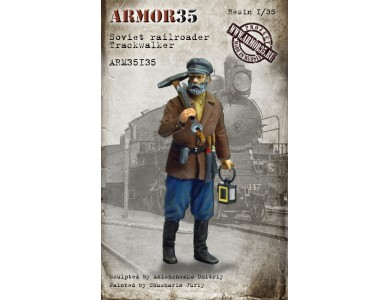 ARM35135 Soviet railroader. Trackwalker.