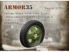 ARM35304 GAZ-AA wheel with flat tyre (Yaroslavskiy Zavod).Version I (1pc.)