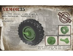 ARM35310 ZiL-131 Wheel with flat tyre, М93(320х508) Version I, (1 pc.)