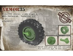 ARM35311 ZiL-131 Wheel with flat tyre, М93 (320х508) Version II, (1 pc.)