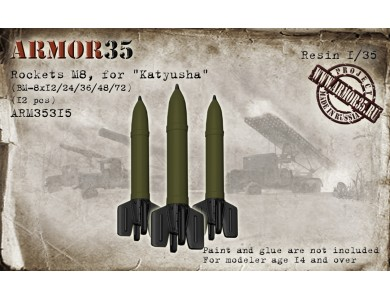 "ARM35315 Rockets M8, for ""Katyusha"" BM-8x12/24/36/48/72 (12 pcs.)"