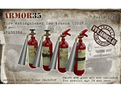 ARM35356 Fire extinguisher for trucks (USSR) (4 pcs.)