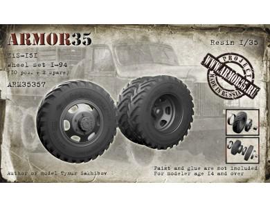 ARM35357 ZiS-151 Wheel set I-94, (10 pcs. + 2 spare)