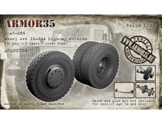ARM35358 KrAZ-256, Wheel set ID-304, highway version (10 pcs. + 1 spare + front beam)