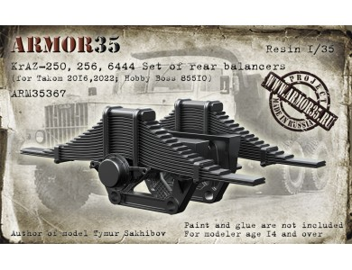 ARM35367 KrAZ-250,256,6444 Set of rear balancers (for Takom 2016,2022 ; Hobby Boss 85510)