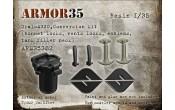 ARM35382 Ural-4320,Conversion kit (bonnet locks, vents locks, emblems, tank filler neck)