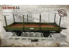 ARM35404 Up Trailer with Timber Racks (for Ua Railcar (1435 mm./1524 mm/)