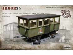 ARM35405 Ua Railcar (wooden body sheathing) 1435 mm./1524mm.