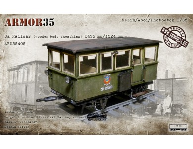 ARM35405 Ua Railcar (wooden body sheathing) 1435 mm./1524mm.