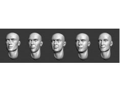 ARM356001 Bald heads (set 1)