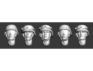 ARM356009 Russian modern heads in helmets (Set1)