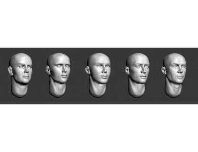 ARM356011 Bald heads (set 2)