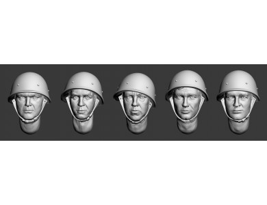 ARM356017 Soviet heads in helmets (WWII) (set 1)