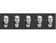 ARM356018 Bald heads (set 4)