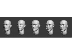 ARM356024 Bald heads (set 6)
