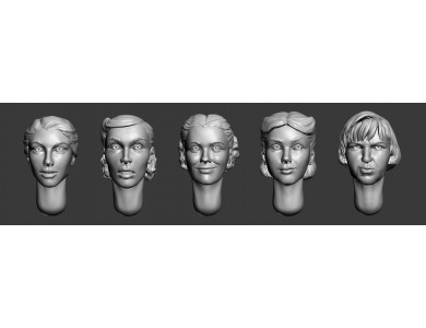 ARM356029 Female heads (set1)