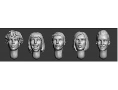 ARM356031 Female heads (set2)