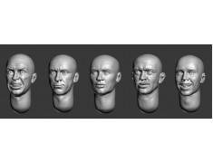 ARM356032 Bald heads (set 7)