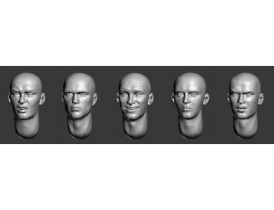 ARM356036 Bald heads (set 8)