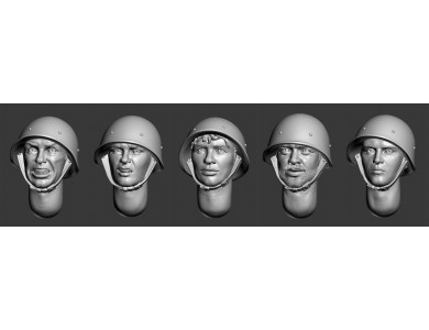 ARM356041 Soviet heads in helmets (WWII) (set 2)