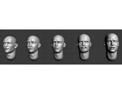 ARM356042 Bald heads (set 9)